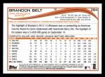 2014 Topps #284  Brandon Belt  Back Thumbnail