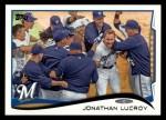 2014 Topps #285  Jonathan Lucroy  Front Thumbnail