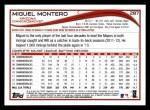 2014 Topps #287  Miguel Montero  Back Thumbnail