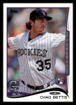 2014 Topps #290  Chad Bettis  Front Thumbnail
