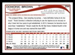 2014 Topps #296  Domonic Brown  Back Thumbnail