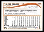 2014 Topps #303  Andres Torres  Back Thumbnail