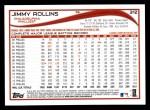 2014 Topps #312  Jimmy Rollins  Back Thumbnail