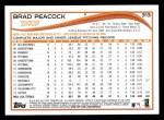 2014 Topps #313  Brad Peacock  Back Thumbnail