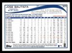 2014 Topps #323  Jose Bautista  Back Thumbnail