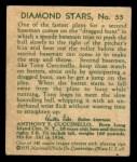 1935 Diamond Stars #55  Tony Cuccinello   Back Thumbnail