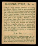 1935 Diamond Stars #53  Oscar Melillo   Back Thumbnail