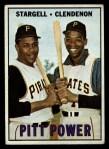 1967 Topps #266   -  Willie Stargell / Donn Clendenon Pitt Power Front Thumbnail