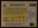1982 Topps #29  Jim Haslett  Back Thumbnail