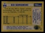 1982 Topps #20  Ed Simonini  Back Thumbnail