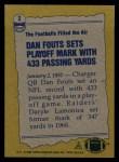1982 Topps #2   -  Dan Fouts Record Breaker Back Thumbnail