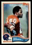 1982 Topps #89  Rick Upchurch  Front Thumbnail
