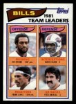 1982 Topps #21   Bills Leaders Front Thumbnail