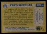 1982 Topps #35  Fred Smerlas  Back Thumbnail