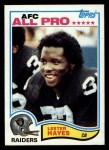1982 Topps #189  Lester Hayes  Front Thumbnail