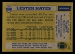1982 Topps #189  Lester Hayes  Back Thumbnail