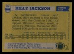 1982 Topps #118  Billy Jackson  Back Thumbnail