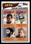 1982 Topps #160   Jets Leaders Front Thumbnail