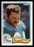 1982 Topps #134  Ed Newman  Front Thumbnail