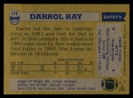 1982 Topps #179  Darrol Ray  Back Thumbnail