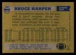 1982 Topps #169  Bruce Harper  Back Thumbnail