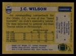 1982 Topps #107  J.C. Wilson  Back Thumbnail