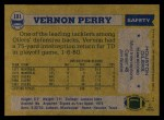 1982 Topps #101  Vernon Perry  Back Thumbnail