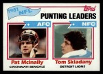 1982 Topps #262   -  Pat McInally / Tom Skladany Punting Leaders Front Thumbnail