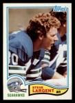 1982 Topps #249  Steve Largent  Front Thumbnail