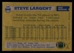 1982 Topps #249  Steve Largent  Back Thumbnail