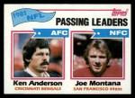 1982 Topps #257   -  Ken Anderson / Joe Montana Passing Leaders Front Thumbnail
