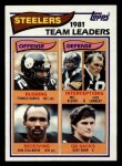 1982 Topps #202   Steelers Leaders Front Thumbnail