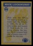 1982 Topps #287   -  Mick Luckhurst In Action Back Thumbnail