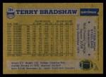 1982 Topps #204  Terry Bradshaw  Back Thumbnail