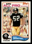 1982 Topps #222  Mike Webster  Front Thumbnail