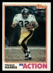 1982 Topps #212   -  Franco Harris In Action Front Thumbnail