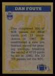 1982 Topps #231   -  Dan Fouts In Action Back Thumbnail