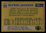 1982 Topps #279  Alfred Jackson  Back Thumbnail