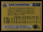 1982 Topps #245  Dan Doornink  Back Thumbnail