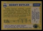 1982 Topps #276  Bobby Butler  Back Thumbnail