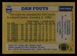 1982 Topps #230  Dan Fouts  Back Thumbnail