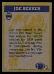 1982 Topps #399   -  Joe Senser In Action Back Thumbnail