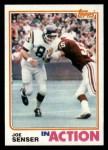 1982 Topps #399   -  Joe Senser In Action Front Thumbnail
