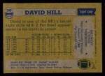 1982 Topps #340  David Hill  Back Thumbnail