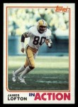 1982 Topps #365   -  James Lofton In Action Front Thumbnail