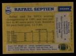 1982 Topps #323  Rafael Septien  Back Thumbnail