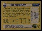 1982 Topps #343  Ed Murray  Back Thumbnail