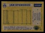 1982 Topps #366  Jan Stenerud  Back Thumbnail