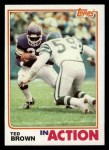 1982 Topps #392   -  Ted Brown In Action Front Thumbnail