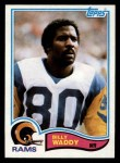 1982 Topps #387  Billy Waddy  Front Thumbnail
